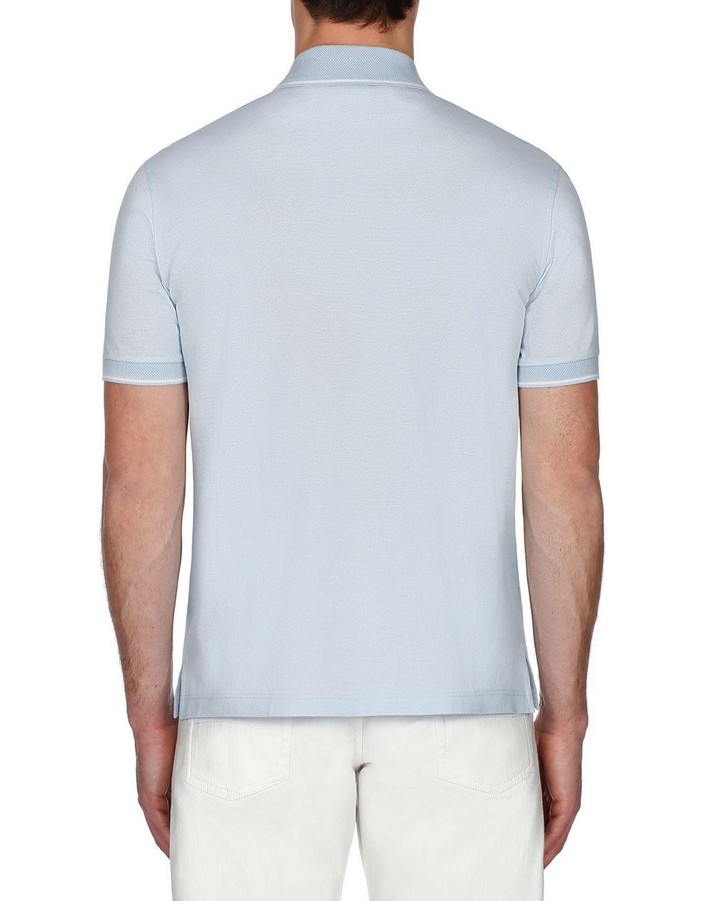 BRIONI Light Blue Piquet Polo Shirt T-Shirts & Polos Man d