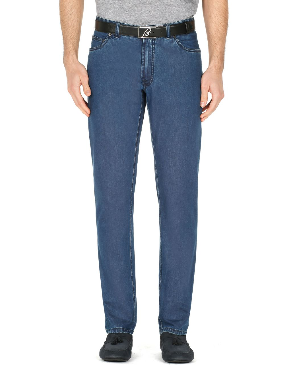 BRIONI Blue Meribel Jeans Trousers Man r