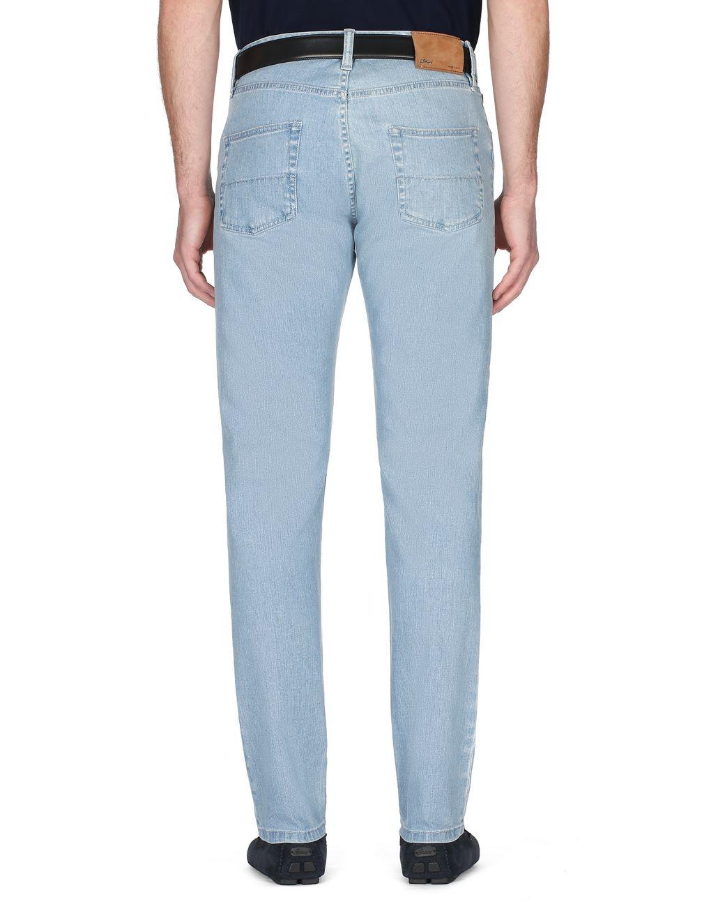 BRIONI Light Blue Denim Trousers Trousers Man d