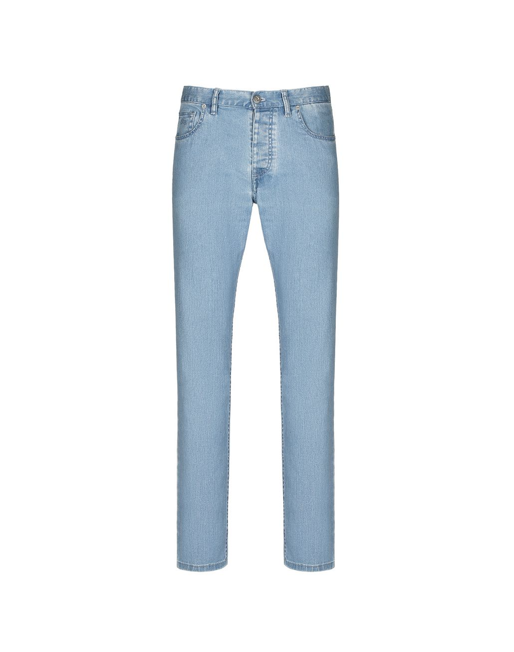 BRIONI Light Blue Denim Trousers Trousers Man f