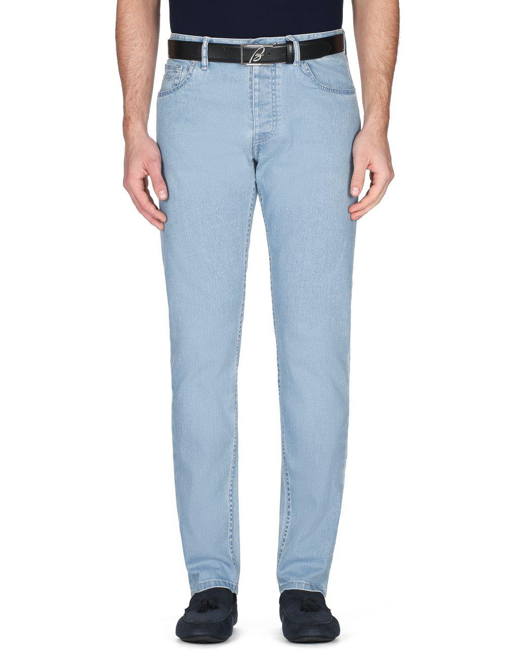 BRIONI Light Blue Denim Trousers Trousers Man r