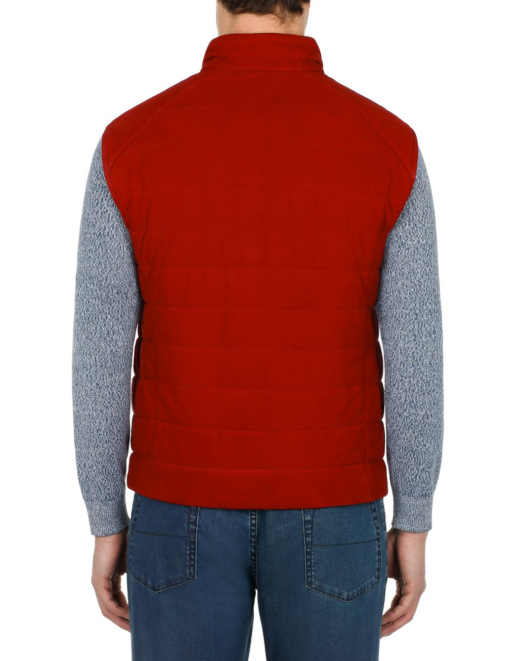 BRIONI Red Padded Vest Outerwear Man d