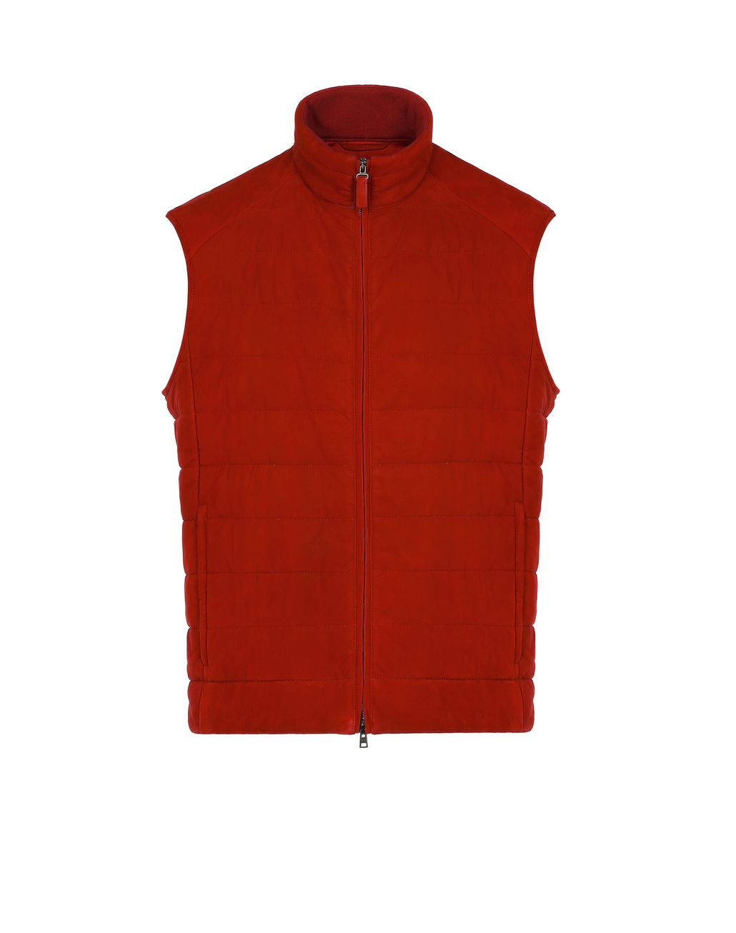 BRIONI Red Padded Vest Outerwear Man f