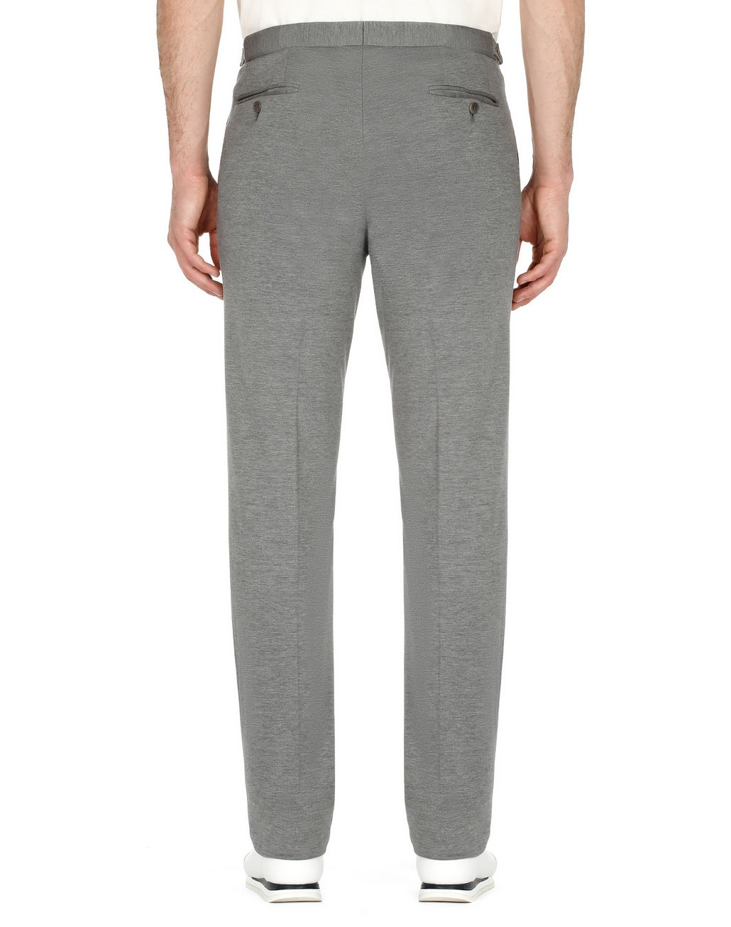 BRIONI Grey Jersey Trousers Trousers [*** pickupInStoreShippingNotGuaranteed_info ***] d