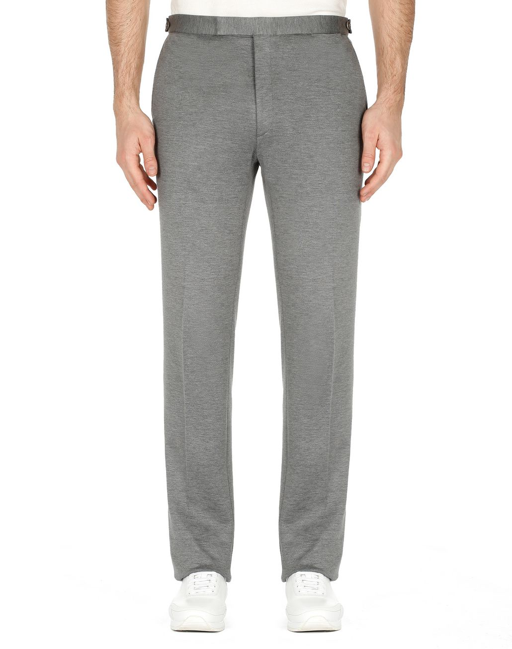 BRIONI Grey Jersey Trousers Trousers [*** pickupInStoreShippingNotGuaranteed_info ***] r