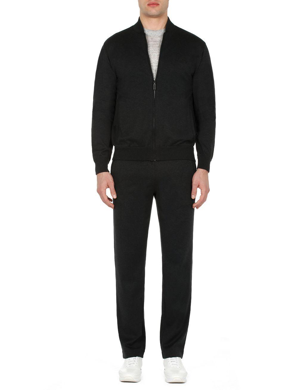 BRIONI Grey Sweatshirt Knitwear Man r