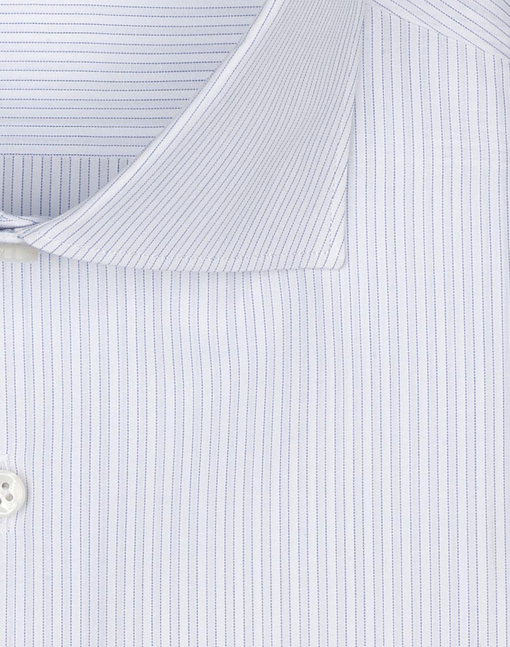BRIONI White and Light Blue Striped Shirt  Formal shirt Man e