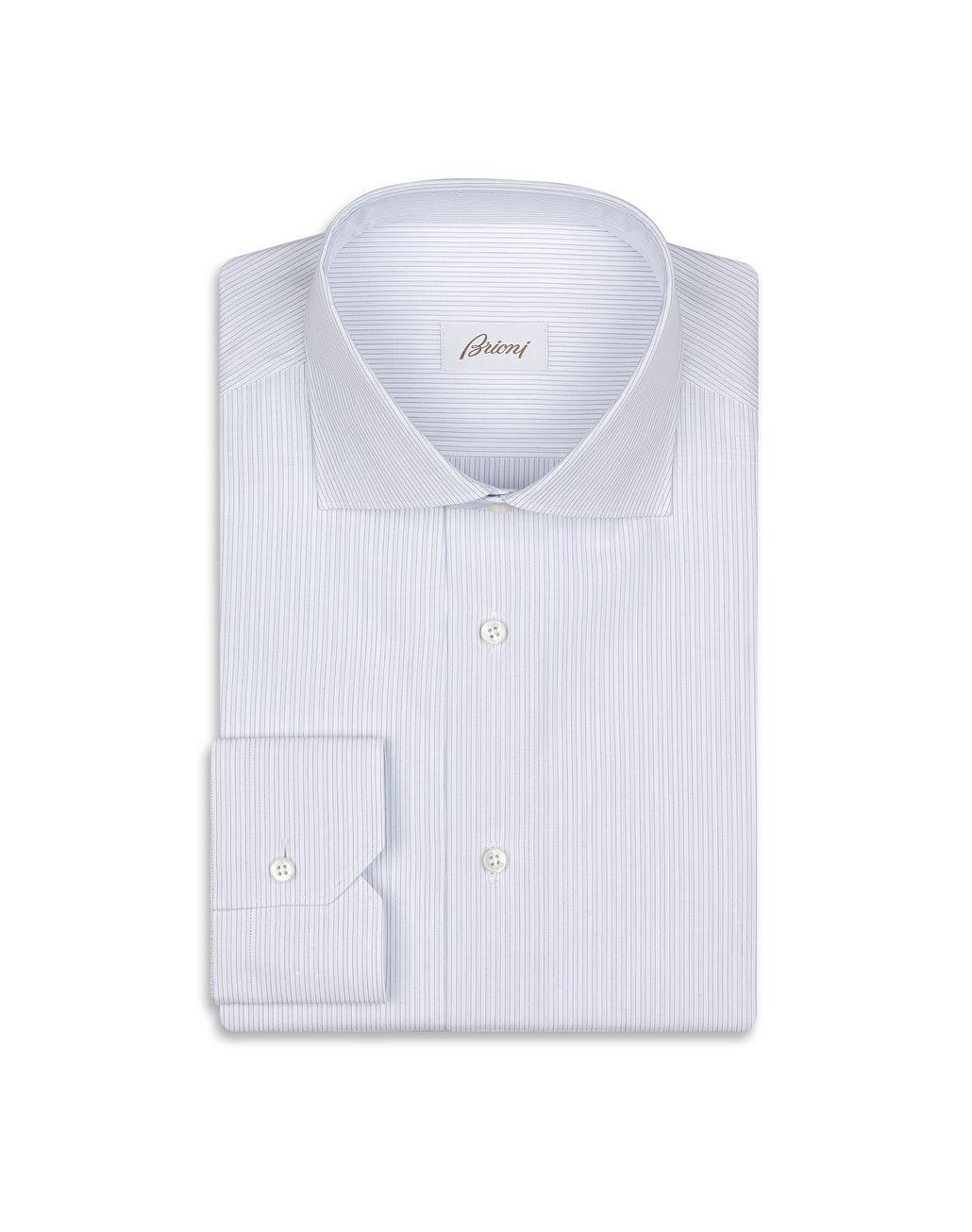 BRIONI Рубашка в бело-голубую полоску  Классическая рубашка Для Мужчин f