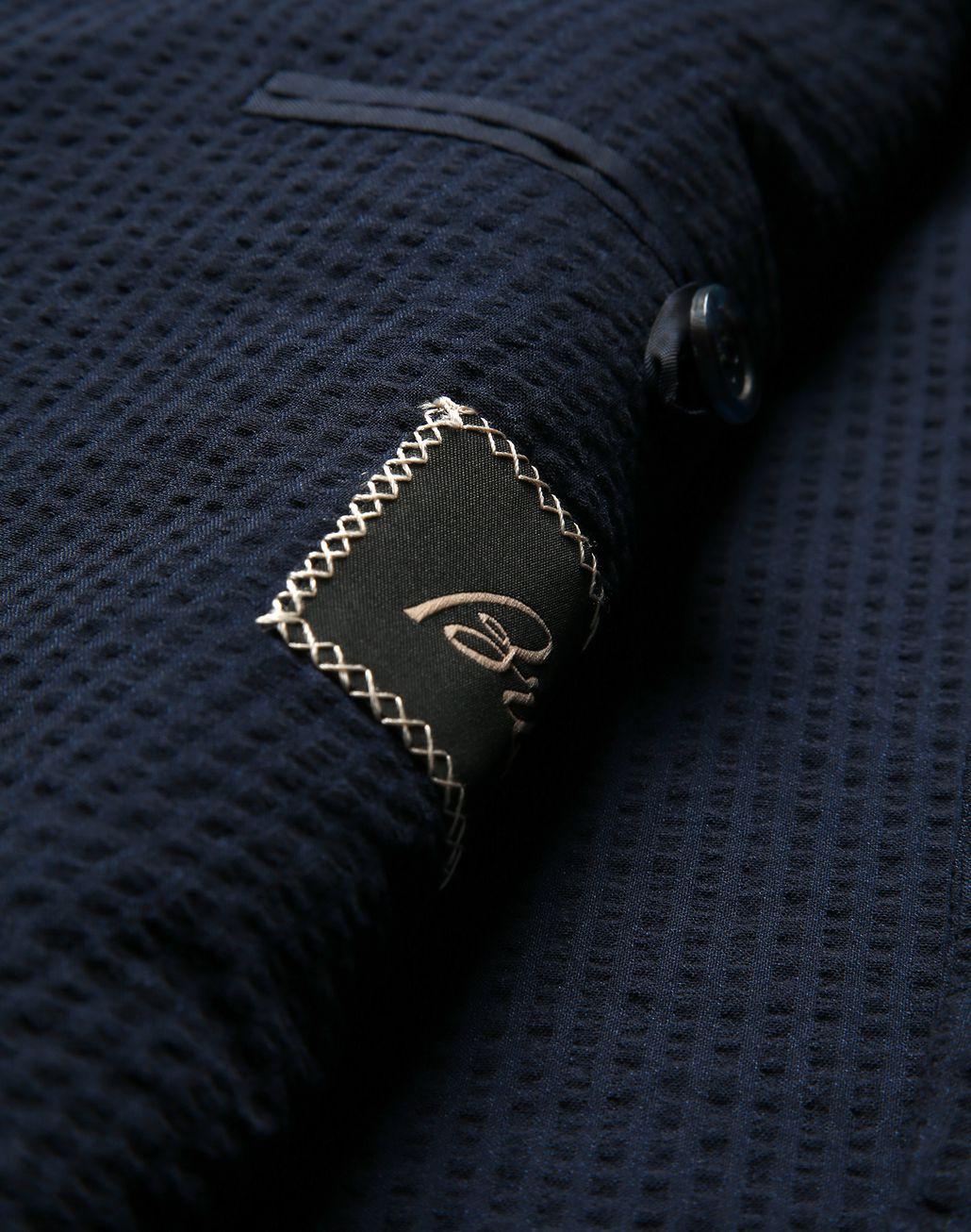 BRIONI Navy Blue Seer Sucker Celio Suit Suits & Jackets Man b