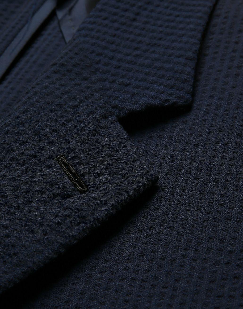BRIONI Navy Blue Seer Sucker Celio Suit Suits & Jackets Man e