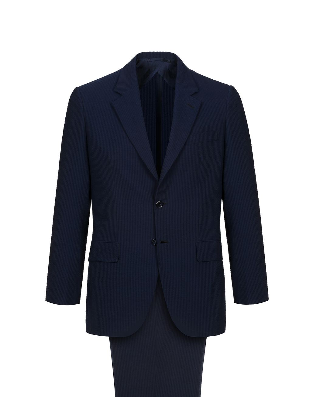 BRIONI Navy Blue Seer Sucker Celio Suit Suits & Jackets Man f