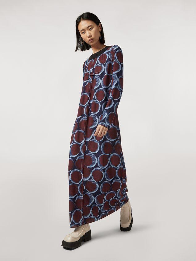 Marni Long viscose sablé dress with Paranoic print Woman - 5