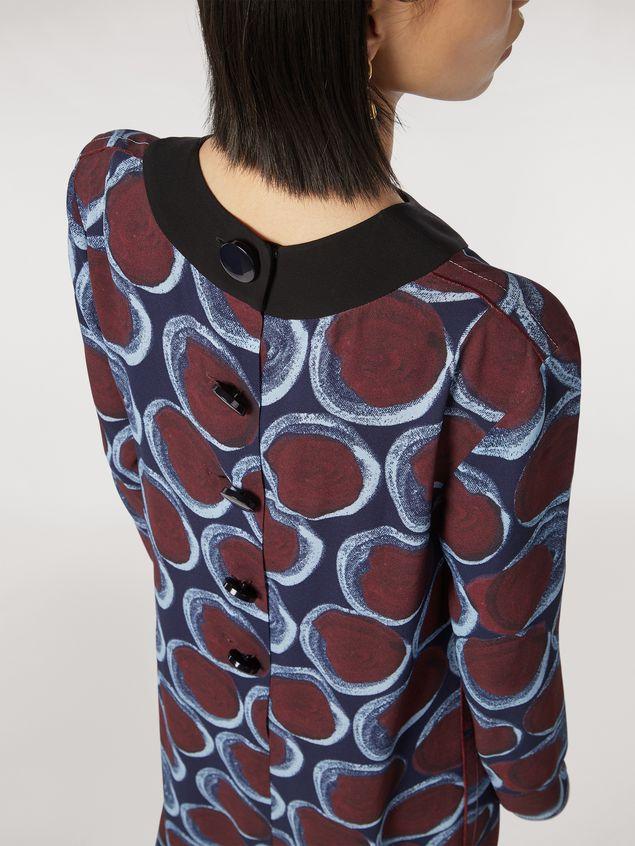 Marni Long viscose sablé dress with Paranoic print Woman - 4