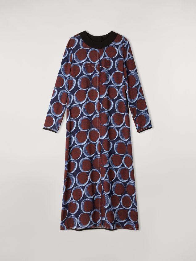 Marni Long viscose sablé dress with Paranoic print Woman - 2