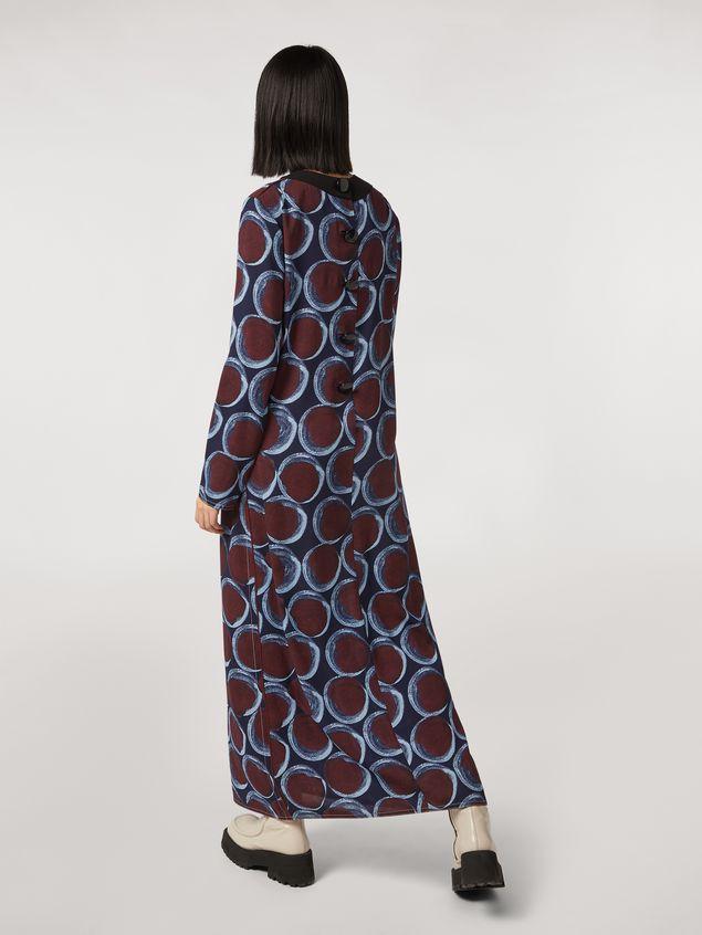 Marni Long viscose sablé dress with Paranoic print Woman - 3