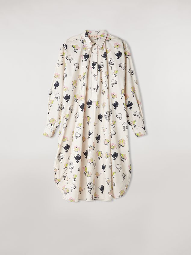 Marni Poplin dress Booming print Woman - 2