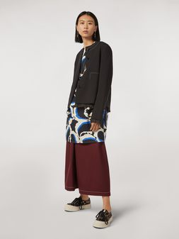 Marni Cotton dress Teardrop print Woman