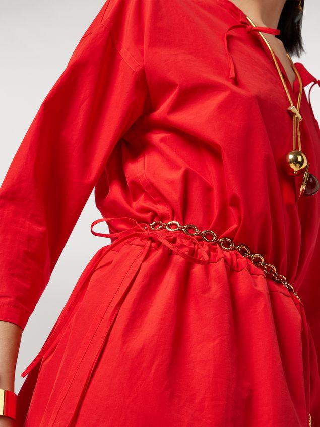 Marni Cotton poplin V-neck dress Woman - 4