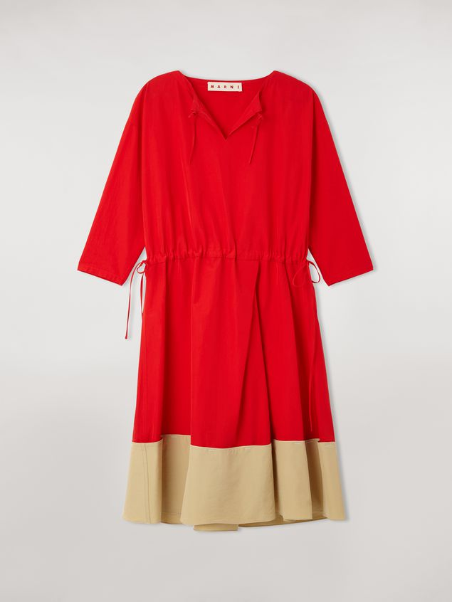 Marni Cotton poplin V-neck dress Woman - 2