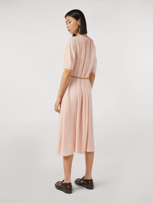 Marni Dress in envers crepe satin with zig-zag topstitching Woman - 3