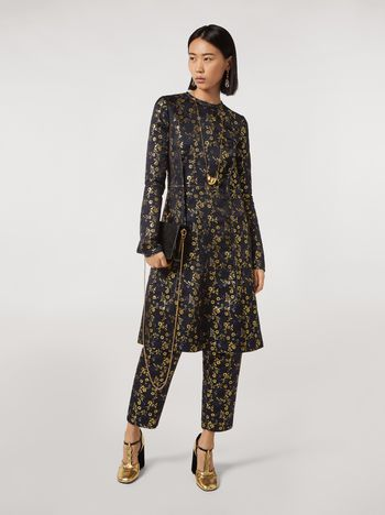 Marni Floral jacquard crewneck dress Woman f