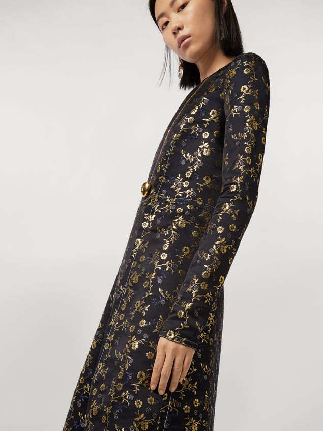 Marni Floral jacquard crew neck dress Woman - 5