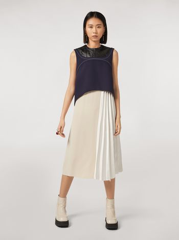 Marni Patchwork dress in viscose satin Woman