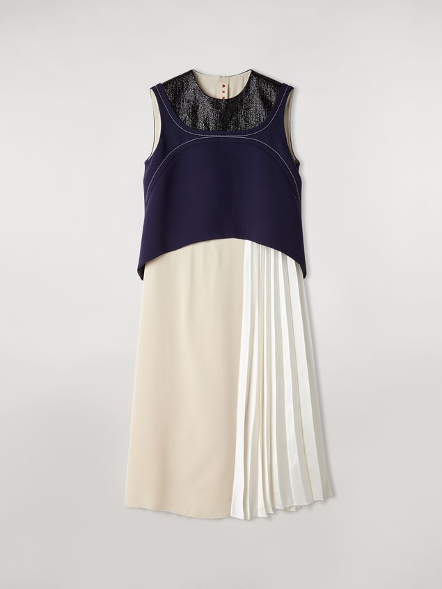 Marni Patchwork dress in viscose satin Woman - 2