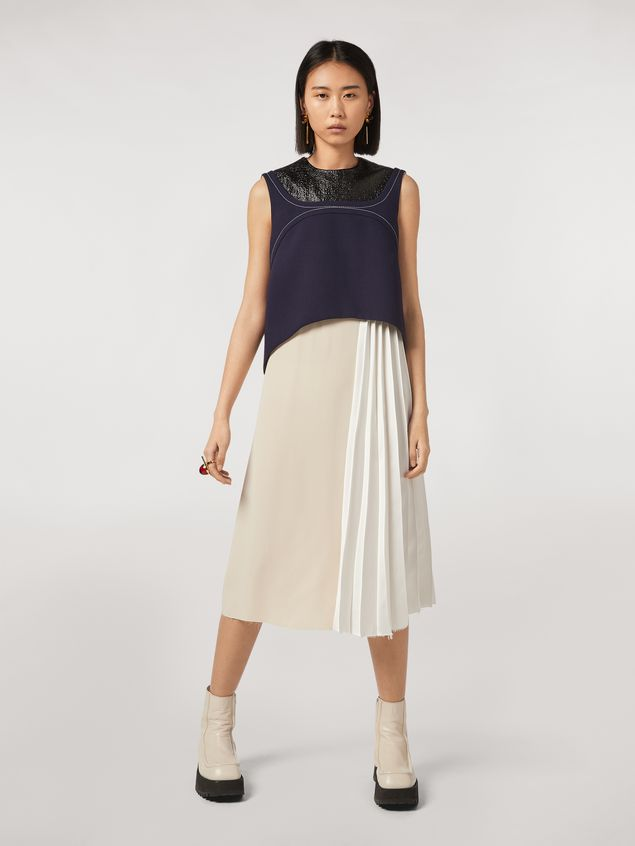 Marni Patchwork dress in viscose satin Woman - 1