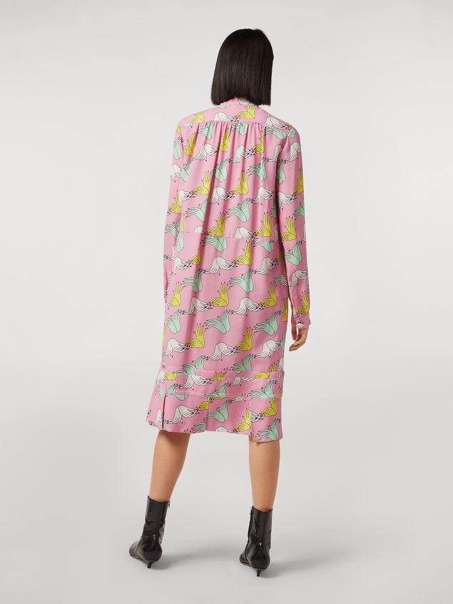 Marni Vestido de sablé de viscosa con estampado Prelude de Bruno Bozzetto Mujer