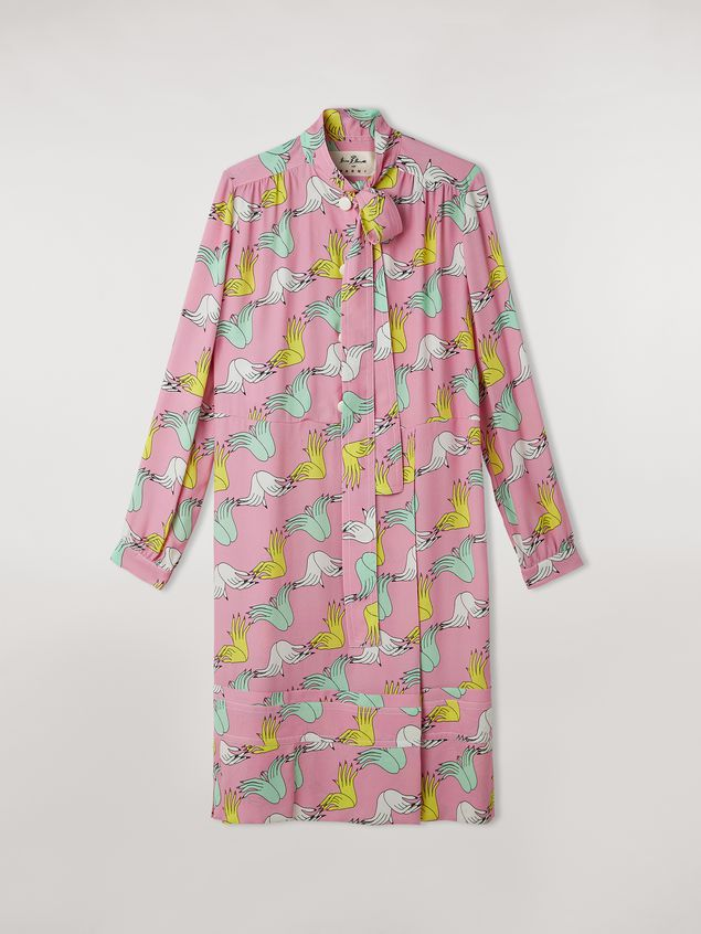 Marni Dress in viscose sablé Prelude print by Bruno Bozzetto Woman - 2