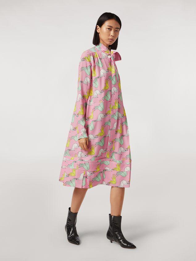 Marni Vestido de sablé de viscosa con estampado Prelude de Bruno Bozzetto Mujer - 1
