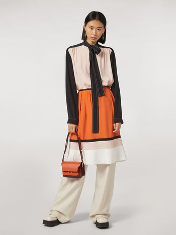 Marni Patchwork dress in silk crepe blend Woman