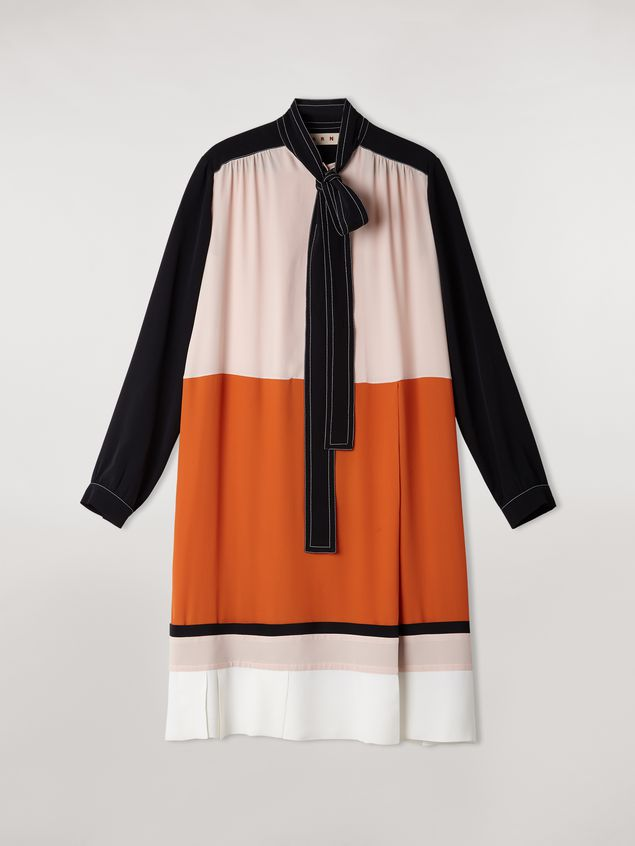Marni Patchwork dress in silk crepe blend Woman - 2