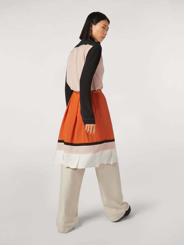 Marni Patchwork dress in silk crepe blend Woman - 3