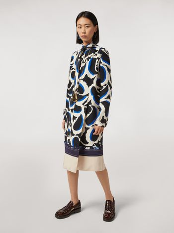 Marni Patchwork dress in viscose cady Teardrop print Woman f