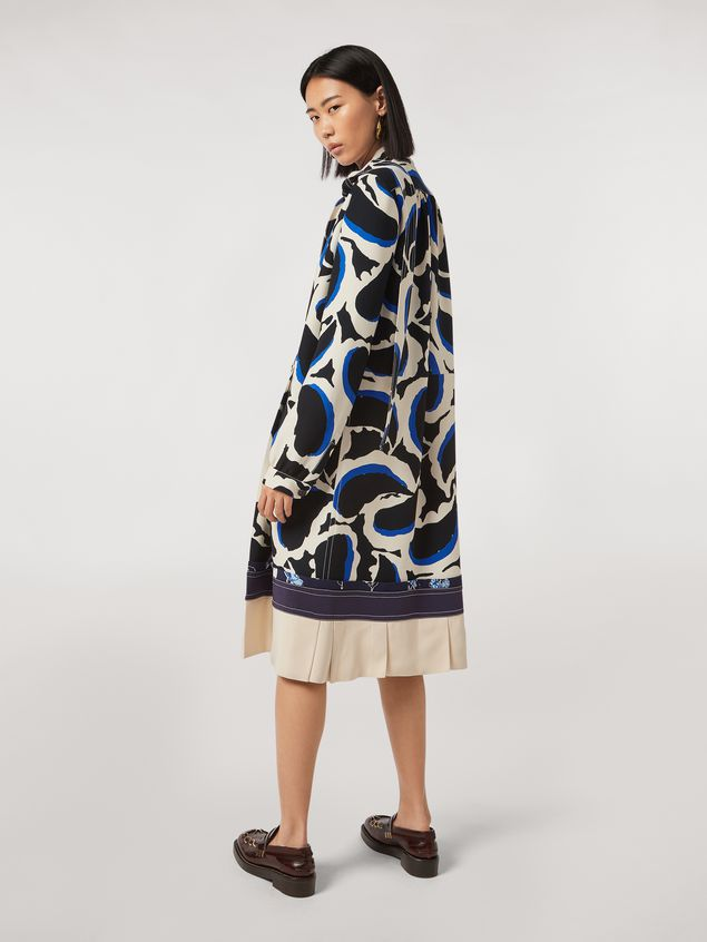 Marni Patchwork dress in viscose cady Teardrop print Woman