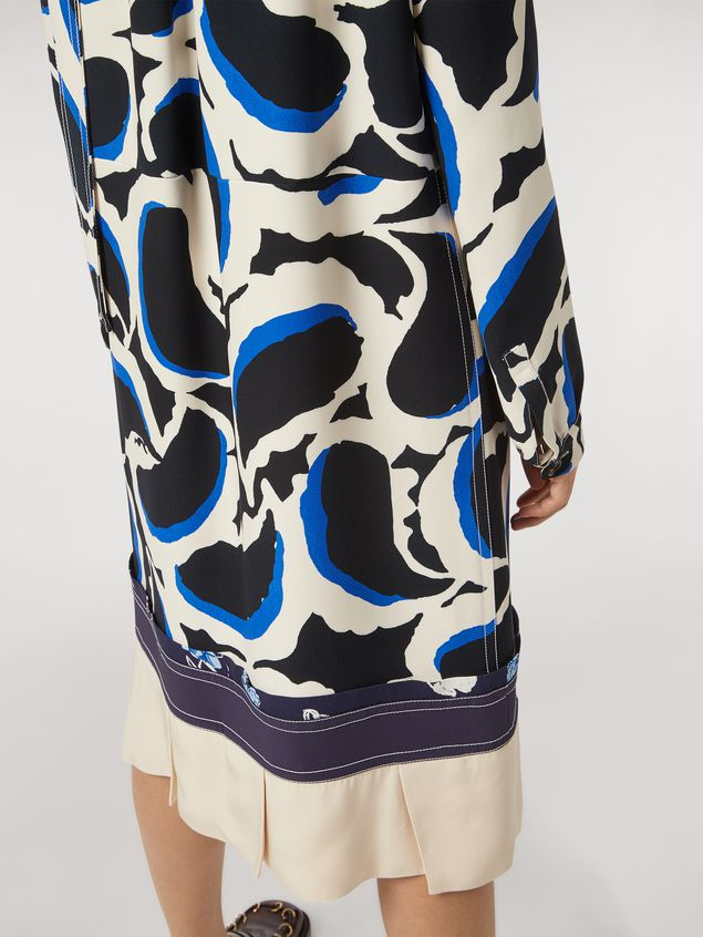 Marni Patchwork dress in viscose cady Teardrop print Woman - 5