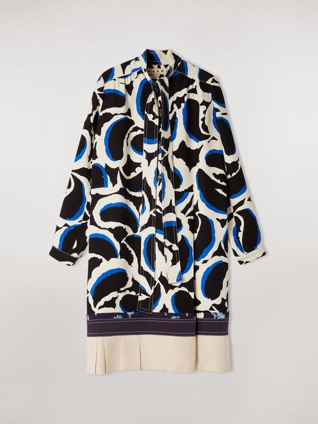 Marni Patchwork dress in viscose cady Teardrop print Woman - 2