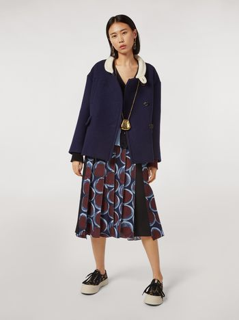 Marni Felted wool twill jacket with contrasting collar Woman f