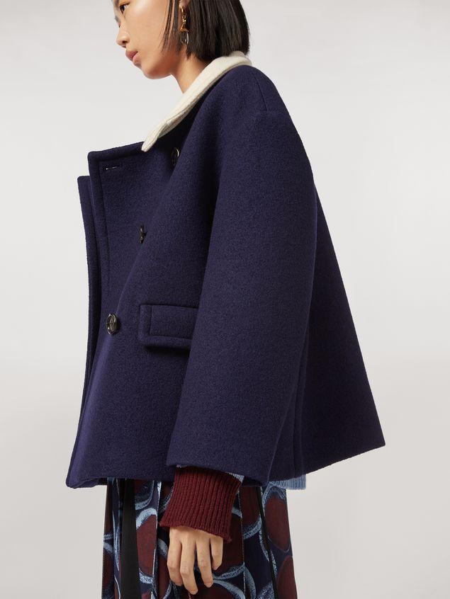 Marni Chaqueta de sarga de lana con fieltro y cuello en contraste Mujer - 5