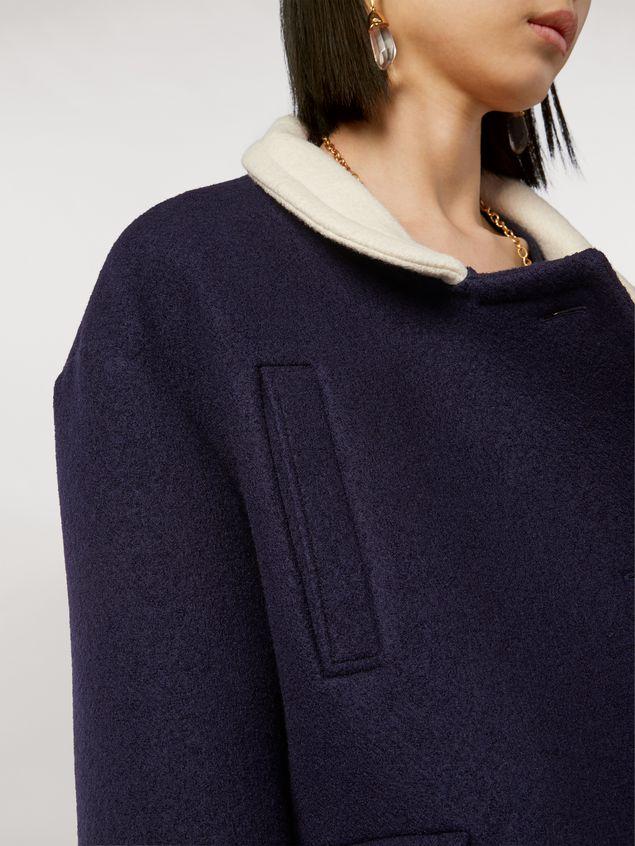Marni Chaqueta de sarga de lana con fieltro y cuello en contraste Mujer - 4