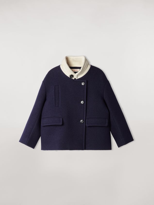 Marni Chaqueta de sarga de lana con fieltro y cuello en contraste Mujer - 2