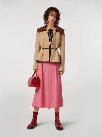 Marni Felted wool twill jacket with shawl collar Woman f