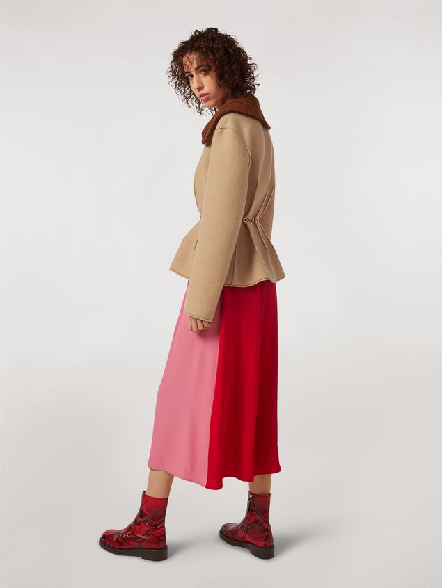 Marni Felted wool twill jacket with shawl collar Woman