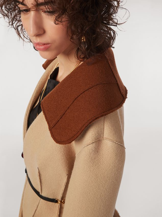 Marni Felted wool twill jacket with shawl collar Woman - 4