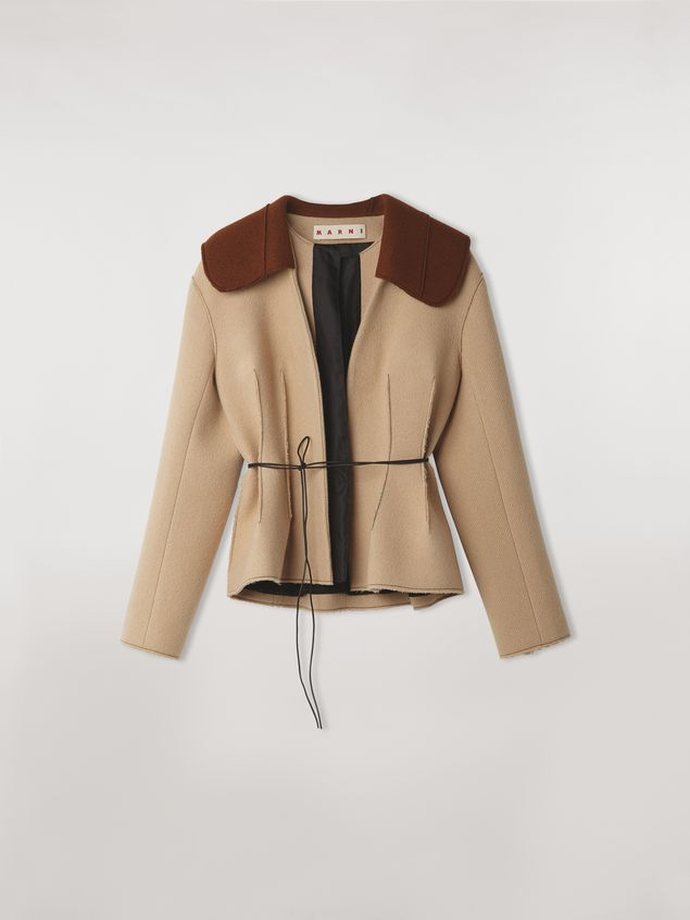 Marni Felted wool twill jacket with shawl collar Woman - 2