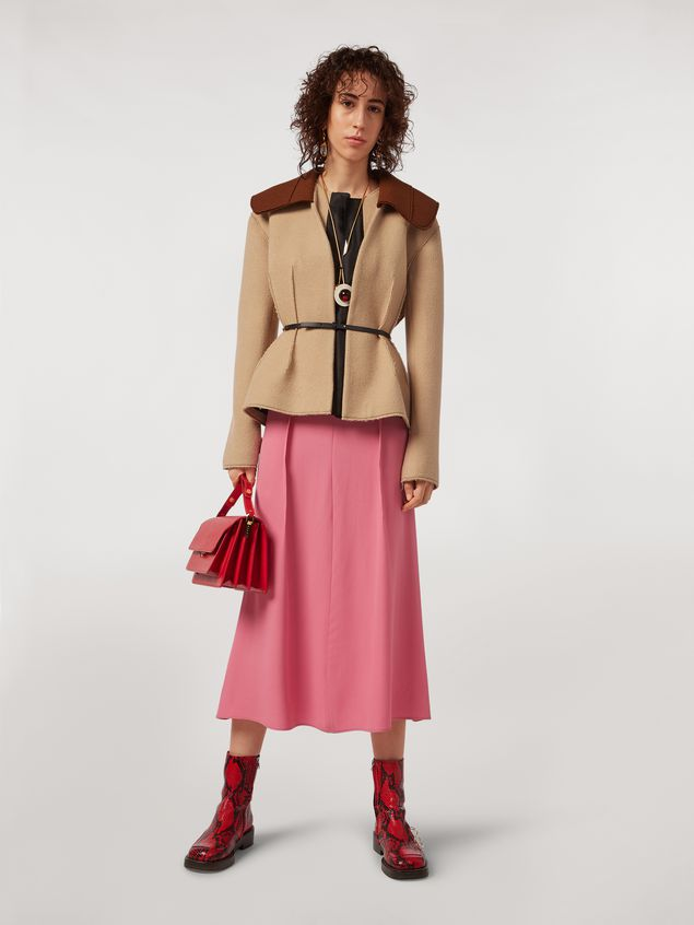 Marni Felted wool twill jacket with shawl collar Woman - 1