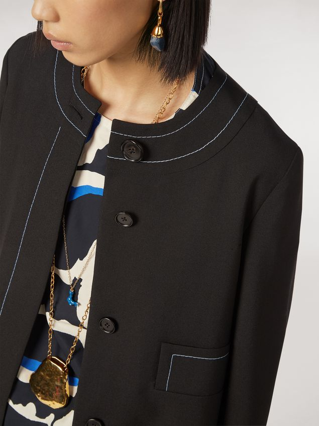 Marni Tropical wool jacket with asymmetrical pockets Woman - 4