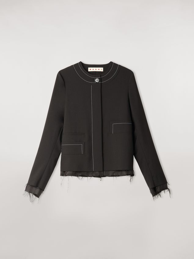 Marni Tropical wool jacket with asymmetrical pockets Woman - 2